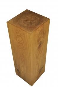 Dekosäule Aus Holz, Geschliffene Und Geölte Eiche, 76 Cm Hoch   Dekosäule  Aus Holz