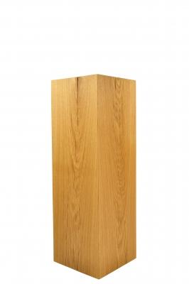 Dekosäule aus Holz, geschliffene und geölte Eiche, 76 cm hoch