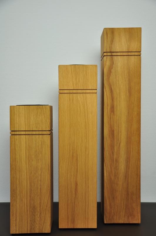 Dekosäule Holz Massiv : dekos ule 3er set aus holz eiche ge lt ~ Yuntae.com Dekorationen Ideen