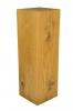 Massivholz Dekosäule aus geölter Eiche, mit gewollten Rissen und Ästen