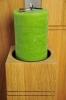 Dekosäule aus Holz mit hochwertiger grüner Kerze