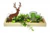 Dekoschale Ahorn mit Hirsch und Kerze, Ansicht von vorne
