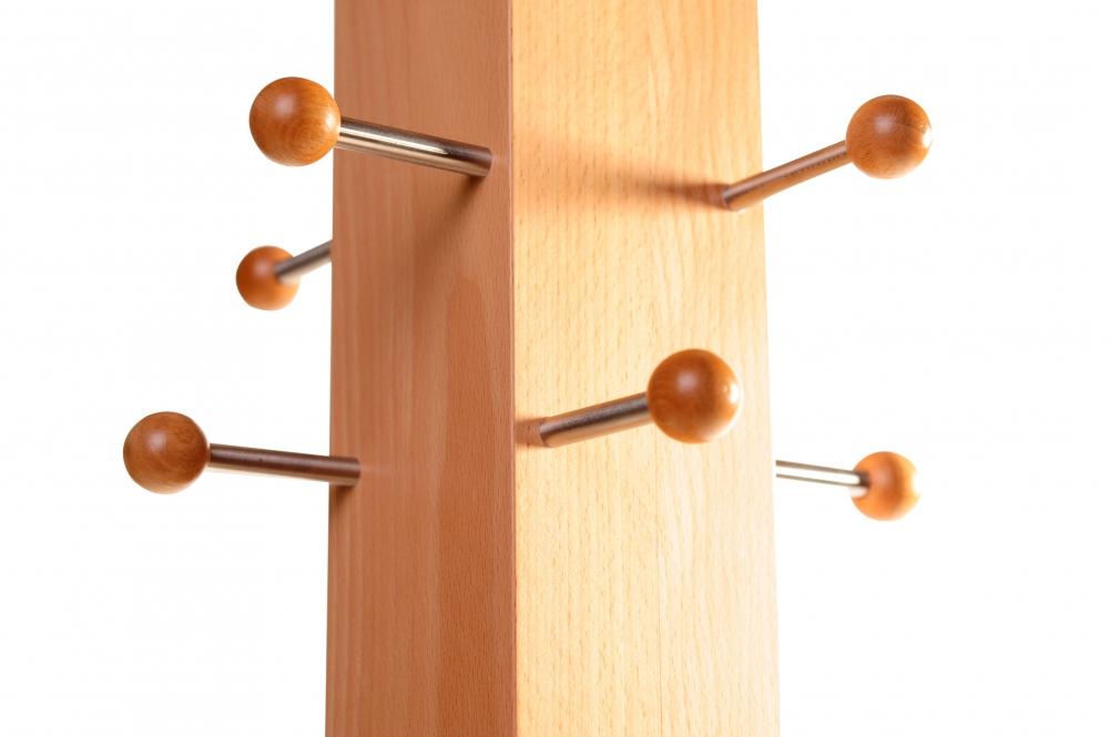 garderobenstander holz acht aufhanger an massiver saule von aus selber bauen