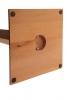 verschraubter Standfuss von Garderobenständer aus Holz