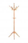 Garderobenständer, massive Buche natur lackiert - rustikale Form