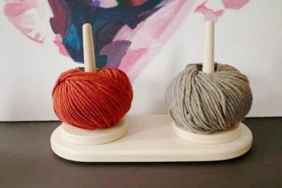 Doppel-Wollabroller-Wollspule Ahorn
