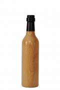 Pfeffermühle aus Holz - Weinflasche, Buche natur lackiert