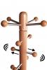 Spitze mit verschiebbaren Aufhängern von Garderobenständer, Buche natur lackiert - Edelstahl