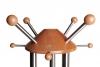 Spitze von Garderobenständer mit je vier großen und kleinen Aufhängern, Edelstahl - Buche