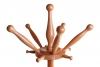 Spitze von Massivholz Garderobenständer mit je fünf kleinen und großen Haken